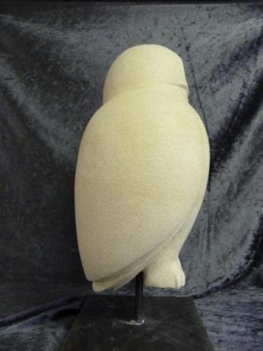 2012 Sneeuwuil - Nieuw Zeelands Kalksteen - Sokkel van staal - Buiten beeld